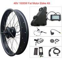 48v 1000w Fat Tire Electric Bike Kit for 20 26 Motor Wheel 48V 20ah Lithium Battery Ebike E bike Electric Bike Conversion Kit