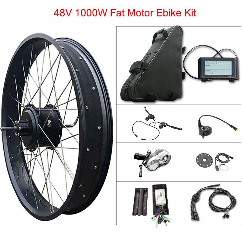 Kit de vélo électrique 48 v 1000 w gros pneu pour 20