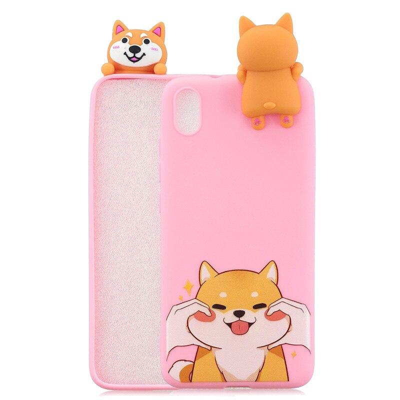 FLYKYLIN 3D Soft TPU Silicone Doll Cartoon Skin Phone Case For Xiaomi Redmi Phones 5