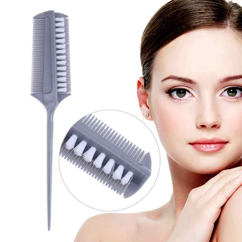1pc Double-Head Hair Dye Coloring Brush Comb Hairdressing Brush Pro Plastic Salon Hair Styling Tool