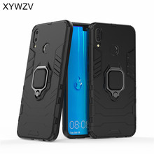 hot deal buy armor case for huawei y9 2019 case magnetic metal finger ring holder case huawei y9 2019 cover for huawei y9 2019 shell fundas