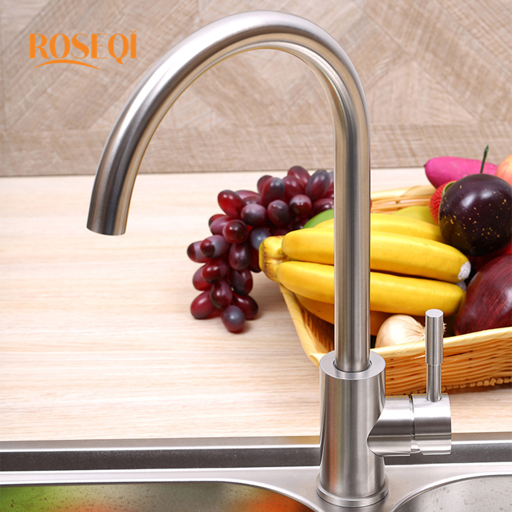 Hot and cold water faucet for outdoor sink - Deck Mounted Stainless Steel Single Handle Kitchen Sink Washing Basin Faucet Hot And Cold Water Rotation