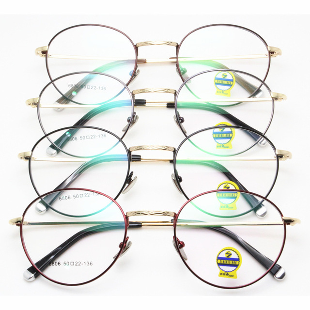 New Edition Including Too Lang Fund Myopia Spectacle Frame Korean Ancient Ways Exceed Light Metal Small Round Frame Glasses