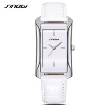 SINOBI 2017 Brand Quartz Watches Women Clock Square Leather Bracelet Casual Fashion Watch Ladies Reloj Mujer Montre Femme F34