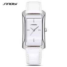 SINOBI 2017 Relógios de Marca de Quartzo Das Mulheres Relógio Quadrado Pulseira de Couro Ocasional Relógio de Forma Senhoras Reloj Mujer Montre Femme F34