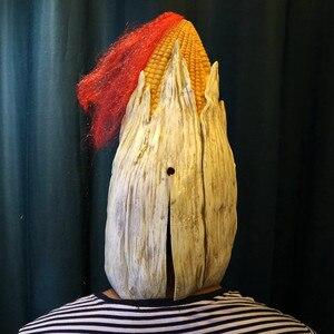 Image 3 - Angry Mr Old Corn, креативная маска для Хэллоуина, высококачественный желтый головной убор из кукурузы, вечерние украшения для Хэллоуина, вечерние товары для Хэллоуина &