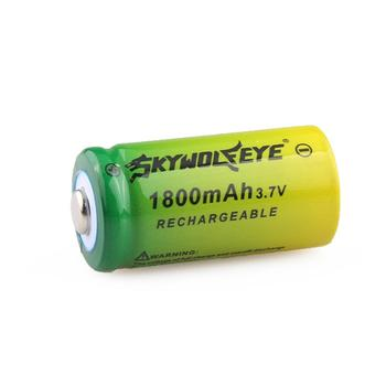 3.7V 1800mAh Lithium Li-ion 16340 Battery CR123A Rechargeable Batteries 3.7V CR123 for Laser Pen LED Flashlight Cell image