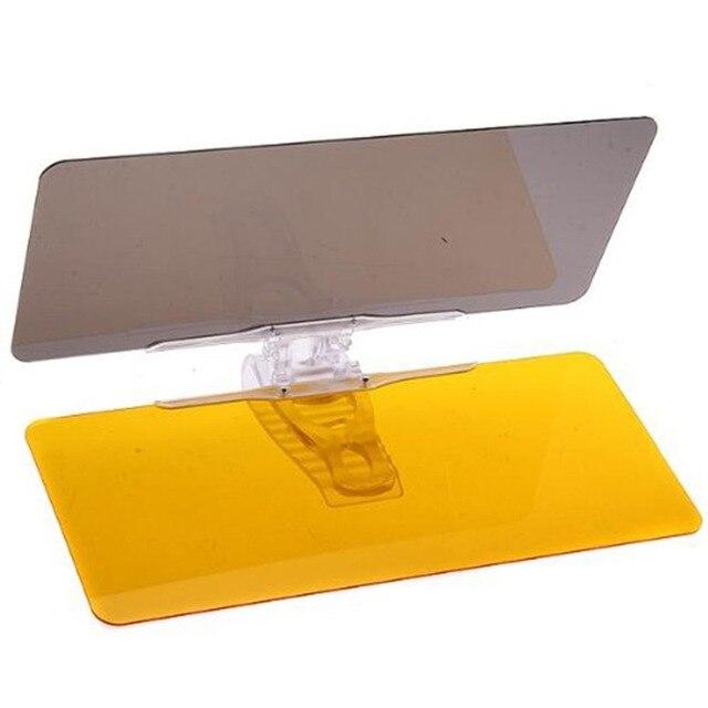 Practical 2 In1 PVC Visor Goggles Car Protective Parasol Sun Shade Sunshade Shield Mirror Clip