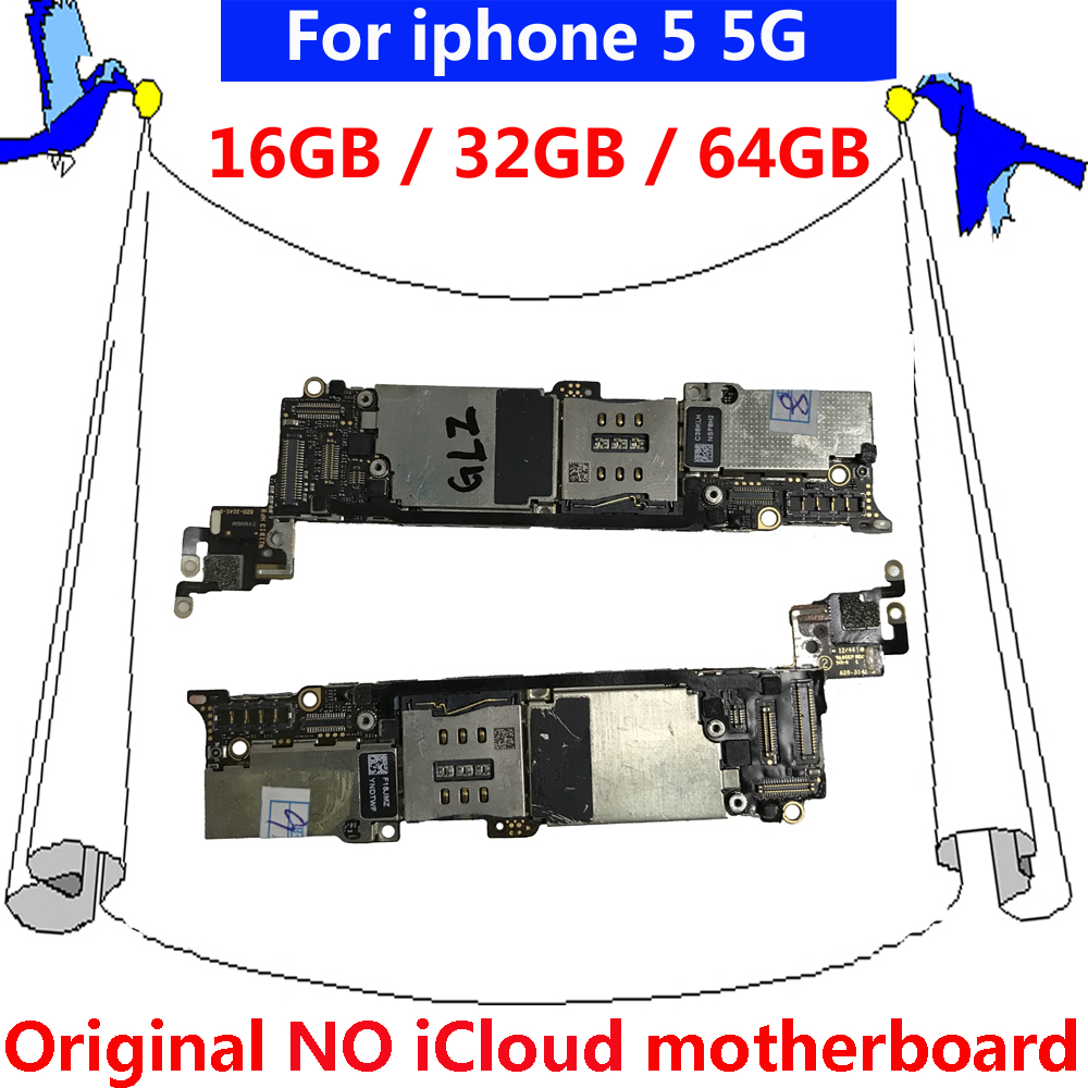 32gb Original Motherboard For Iphone 5 5g Unlock Mainboard Circuit Diagram Pictures 100 Tested Good Working 32g Free Icloud Unlocked