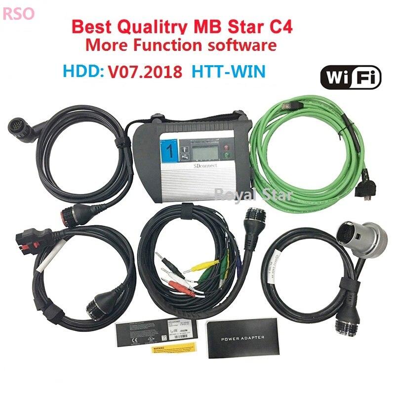 ADG426 e AM79C874VI chip di STELLA di MB sd C4 car scanner strumento diagnostico della stella di Mb C4 connettore di deviazione standard per 12 v /24 v auto diagnostica scanner
