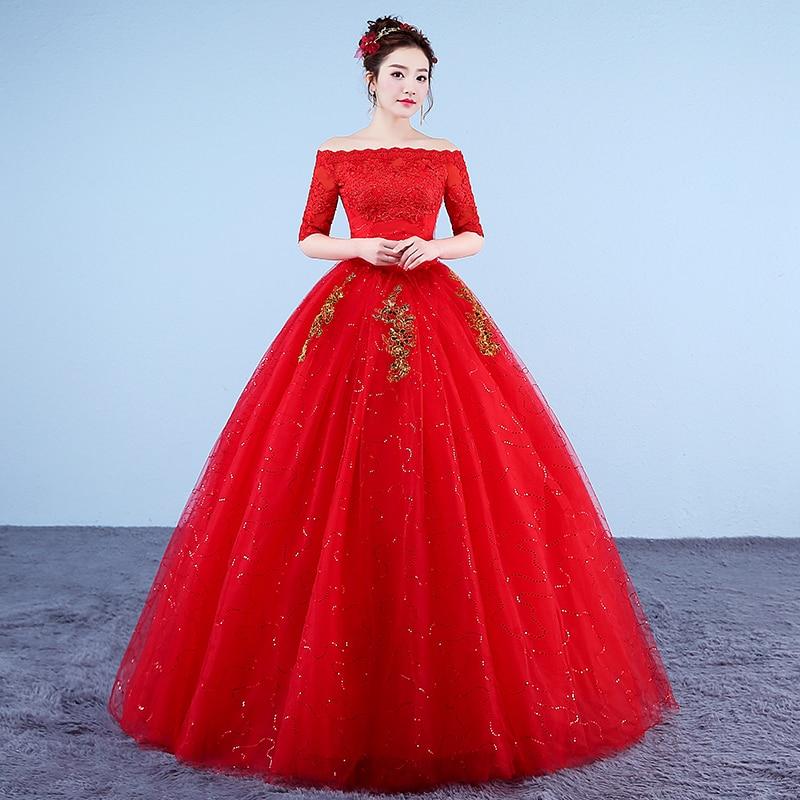 Fansmile New Vintage Ball Gown Tulle Vestidos de Novia Princess  Wedding Dress 2020 Wedding Bride Dress FSM-618F