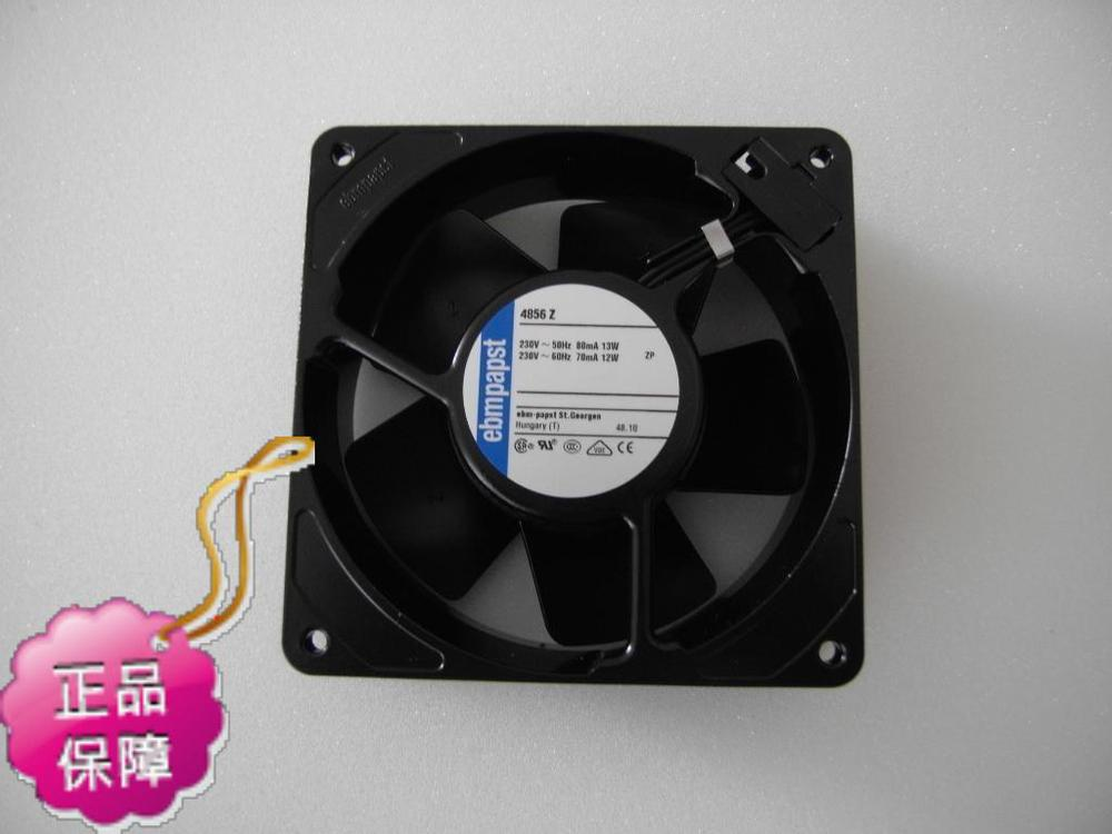 Original ebmpapst 4856Z 120*38MM AC230V 13W  radiator equipment cooling fan new original german ebmpapst 4606n 120 38mm ac110v 0 23a 20w high temperature axial radiator cooling fan