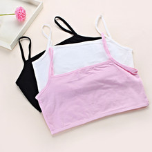 3a2d5c8f11058 3pcs Hot Selling Cotton Girls Student Bra Kids Growing Young Girls Training  Bra Wire Free Children