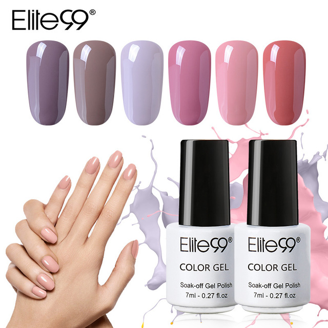 Elite99 7 ml LED UV GEL Nude Farbe Serie Gel Lack Lack Reine Farben Semi Permanent Gel Lack Nagel Primer