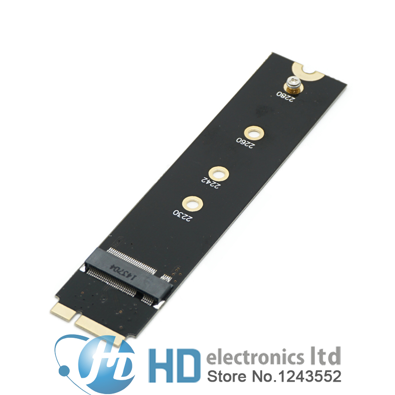 Adaptateur carte à 7 + 17 PIN 64G 128G 256G 512G M.2 NGFF SSD pour 2012 MacBook Air A1465 A1466 MD223 MD224 MD231 MD232 8 + 18pin
