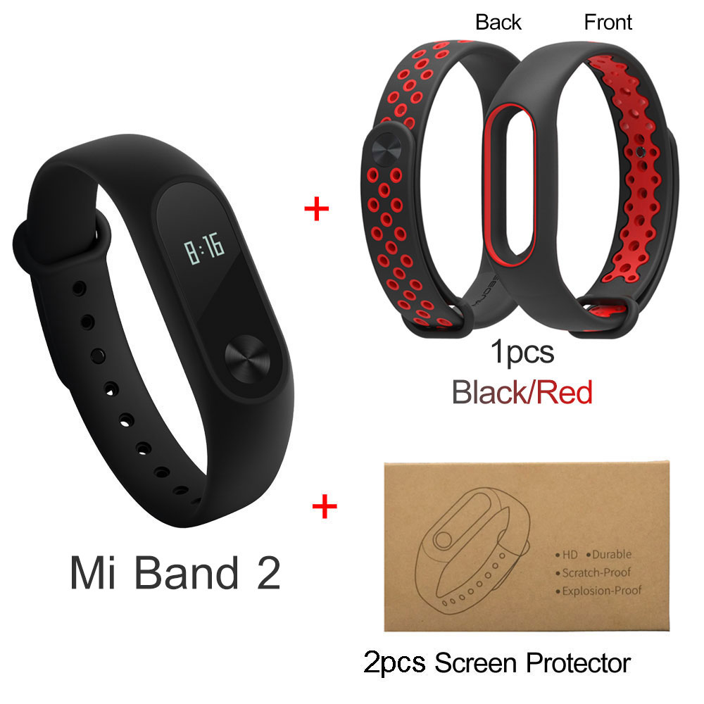 US $26 38 |Original Xiaomi Mi Band 2 Smart Bracelet Wristband Mi Band  Miband Fitness Tracker Android Bracelet Heart Rate Monitor OLED-in Smart