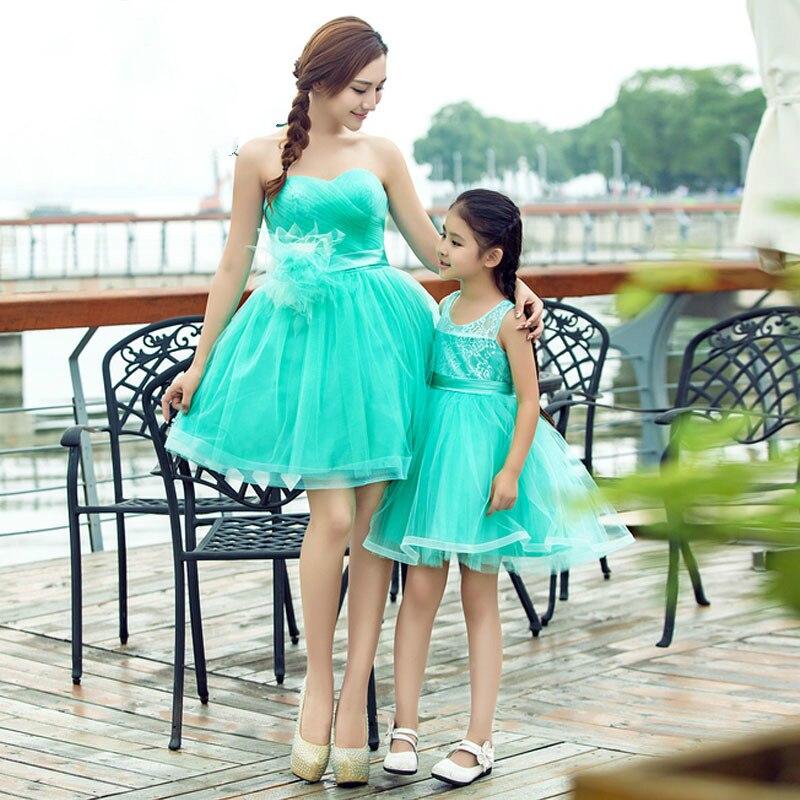 Maman et fille robe de mariée maman et fille vêtements robes demoiselles d'honneur robe enfants vêtements photographie robe d'anniversaire
