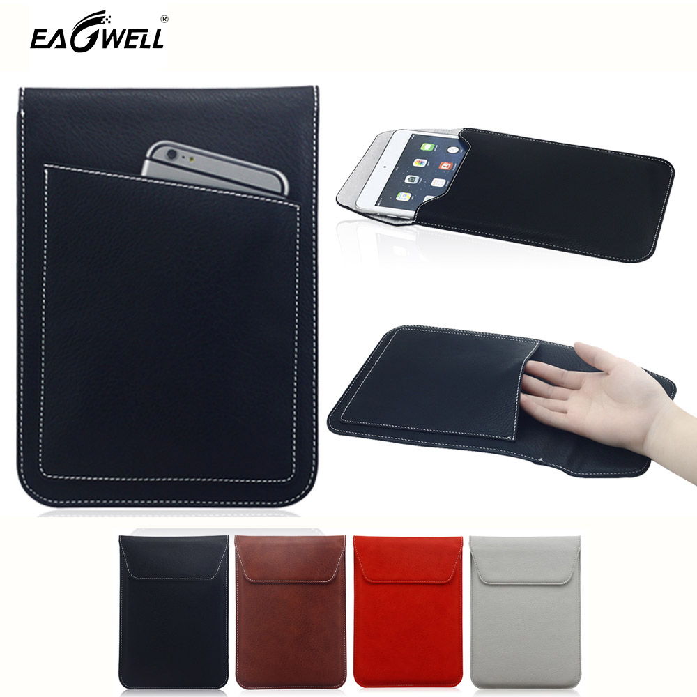 Leather 7 8 inch Tablet Sleeve Case Pouch Cover Briefcase For iPad Mini 2 3 Amazon Kindle Fire 7 Samsung Galaxy Tab 4 7.0 Cover