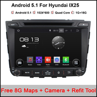8 INCH 1024 600 Quad Core Android 5 1 Car DVD Player For Hyundai IX25 2014