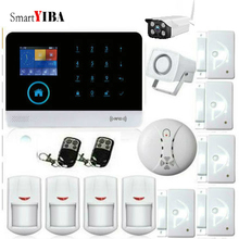 SmartYIBA Touch Keypad Wifi GSM GPRS Home Security French Spanish Polish Italy Voice Burglar Alarm System RFID Fire Smoke Sensor