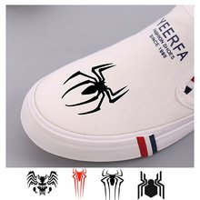 Marvel Hero Comic Red Spider-Man Venom Thor logo Prints Womens Low Top Comfortable and Soft Fashion Shoe A193291