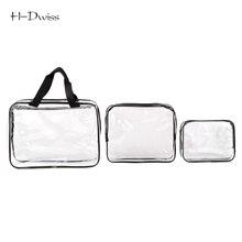 HDWISS Environmental Protection PVC Transparent Cosmetic Bag Women Travel Make up Toiletry Bags Makeup Handbag Organizer Case