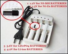Aa, AAA, 16340 18350 14500 18500 18650 26650 Li-ion/LiFePO4/NiZn/Ni-MH/Ni-Cd Baterias carregador/adaptador Frete grátis