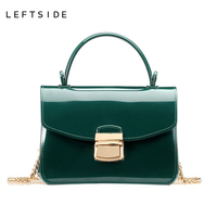 LEFTSIDE 2017 Summer Women Silicone Candy 10 Color Handbags Small Chain Messenger Bag Crossbody Shoulder Bags