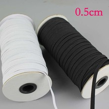 High quality White/black Nylon elastic band  flat bands Trousers Sewing DIY Accessories