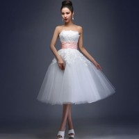 Sweetheart Appliques A Line Organza Above Knee Natural Prom Dresses Cocktail dress