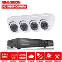 Home 8CH AHD 1080P DVR System 8pcs HD AHD 2 0MP 3000TVL Indoor Outdoor Warterproof Night
