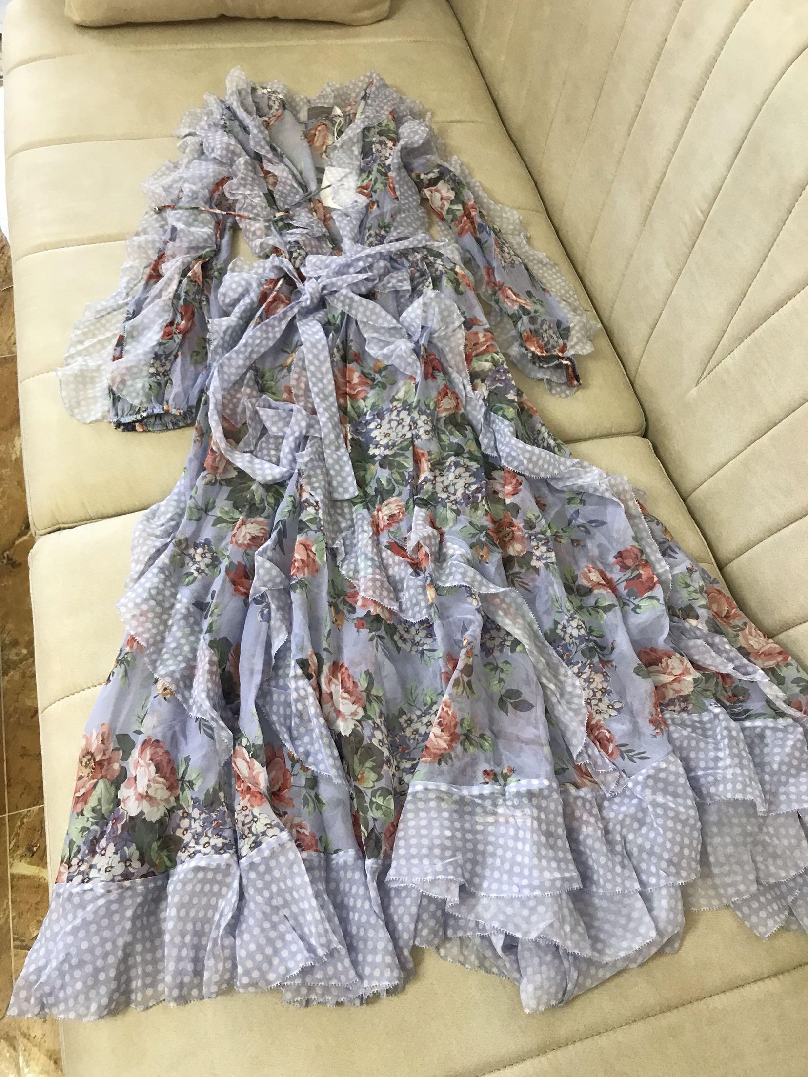 Deux Soie Mince Robes pièce Imprimé Vacances Australien Conception nTRqSXT