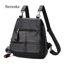 Фотография NEVENKA Women Backpack Female Zipper Design Shoulder Bag For Young Girl Casual Black Bags Lady Fashion Shopping Backpacks Tote