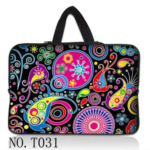 "Fleur colorée 13 ""Laptop Sleeve Case Sac + Masquer Poignée Pour 13.3"" Apple MacBook Pro, HP Folio Sony Yoga13"