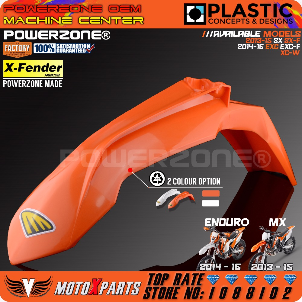 Powerzone MX Orange Plastic Front Fender bar For KTM 2013-15 SX SXF EXC EXCF XCW SIX DAYS 2014-16 Dirt Bike Motocross Enduro cnc pivot dirt bike adjustable clutch brake levers for ktm 250exc exc f six days 2014 2015 350exc f six days 2014 2015 husqvarna