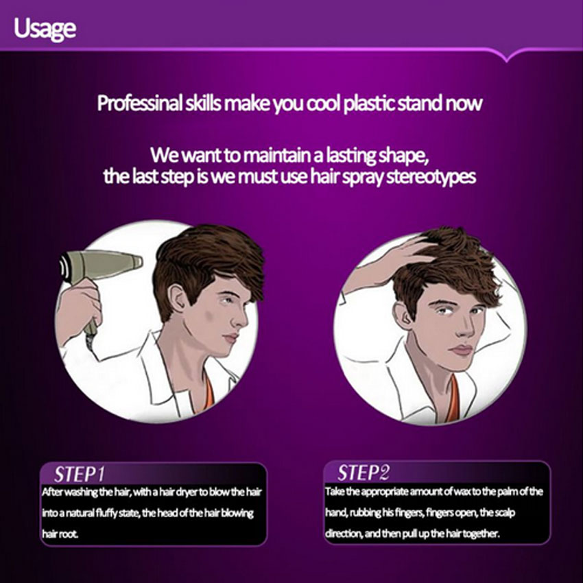 Купить с кэшбэком styling hair wax mud fluffy styling styling and moisturizing for men