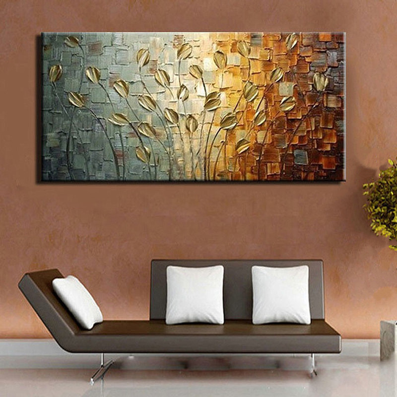 Handpainted Acrylic Knife Floral Paintings Modern Abstract Flower Oil  Painting On Canvas Home Decoration Art Pictures Wall Decor In Painting U0026  Calligraphy ...