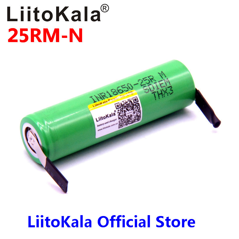 liitokala for samsun 18650 2500mah lithium battery 25r inr1865025r 20a battery for electronic cigarette+Free shipping 1pcs for samsung original 18650 25r inr1865025r 20a discharge lithium batteries 2500mah electronic cigarette power battery