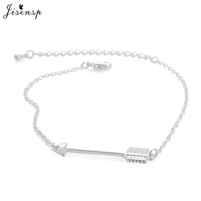 Jisensp Unique One Direction Arrow Charm Bracelets for Women Jewelry Pulseras Adjustable Pulseras Mujer Dhuratë Miqësia Erkek Bileklik