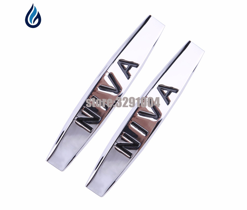 2pcs Car Fender side Emblem Badge Decal rear trunk Sticker for NIVA logo Chevrolet cruze captiva lacetti aveo Malibu Sail Spark chevrolet niva 1 8 mt