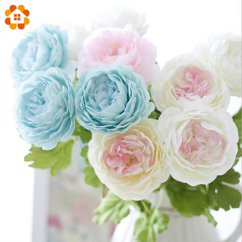 1pc Lovely Flower Bouquet Artificial Flowers Peony Flowers Party