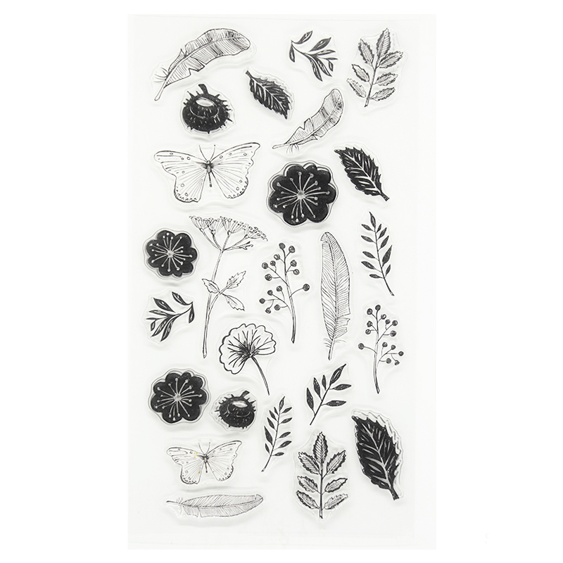 New arrival feather and branch scrapbooking DIY Transparent Clear Rubber Stamp Seal Paper Craft Scrapbooking gift TM-008 new arrival scrapbooking diy transparent clear flowers trees branch rubber stamp seal paper craft scrapbooking cl 213