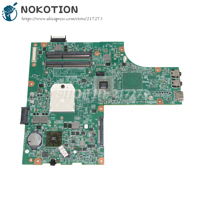 NOKOTION Laptop Motherboard For Dell Inspiron 15R M5010 Main Board CN-0YP9NP 0YP9NP YP9NP 48.4HH06.011 HD4200 DDR3 Free CPU nokotion laptop motherboard for dell vostro 3500 cn 0w79x4 0w79x4 w79x4 main board hm57 ddr3 geforce gt310m discrete graphics