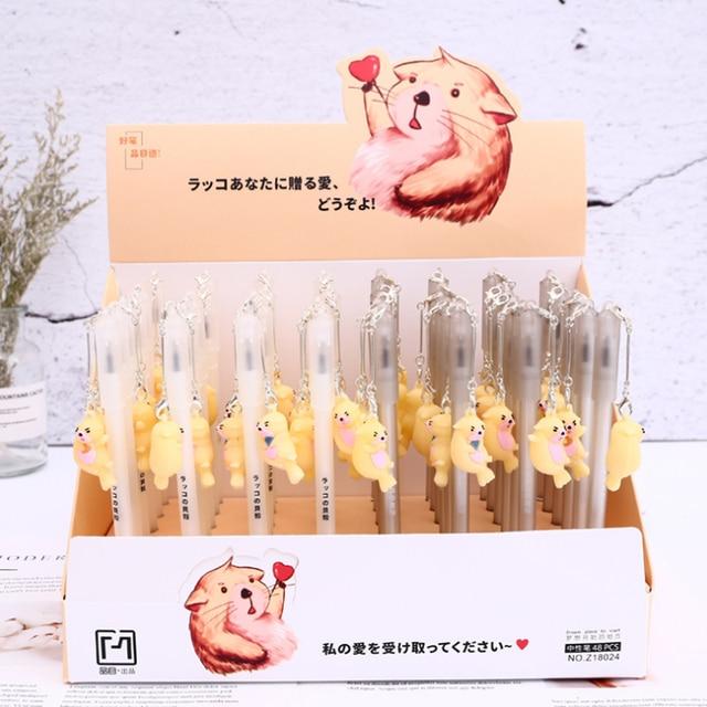 US $3 92 29% OFF|4 Pcs/set Cartoon Animal Sea Otter Pendant Gel Pen Writing  Pens Stationery Enhydra Lutris Gel Ink Pens School Supplies-in Gel Pens