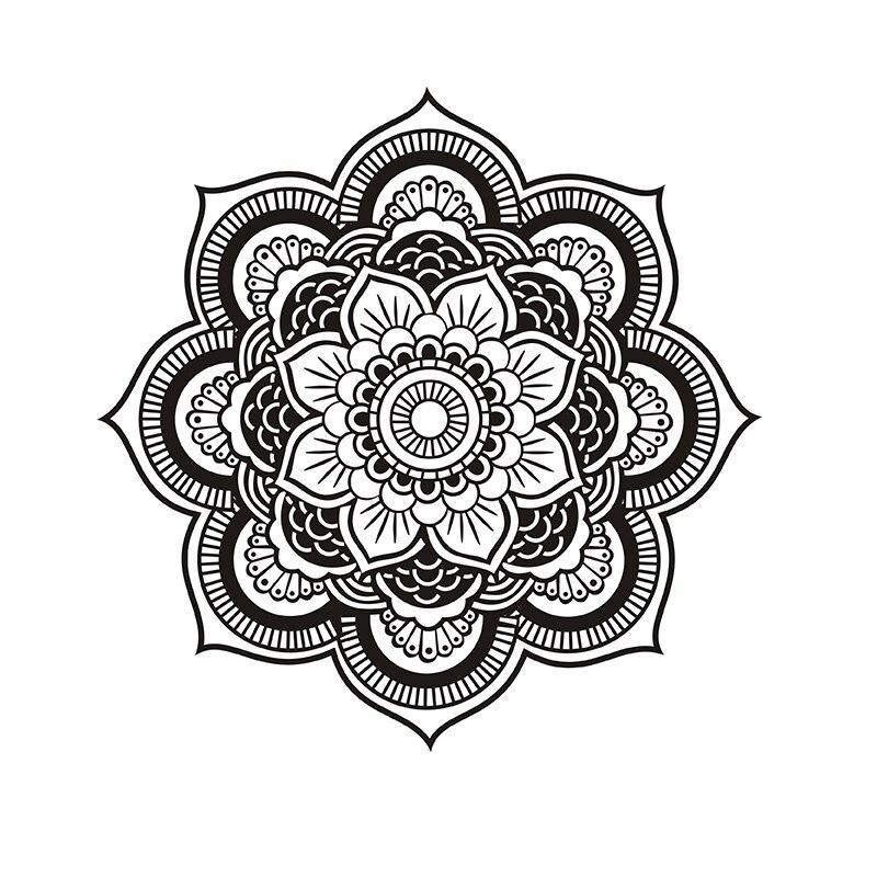 Hot Sale Yoga Mandala Om Indian Buddha Symbol Mehndi Vinyl