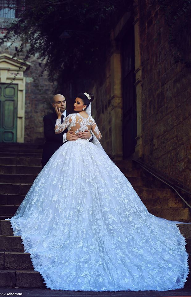 2018 New Arrival Alibaba Lace Long Sleeve bridal Ball Gown Sexy Back In Turkey Manufacturer Bangkok mother of the bride dresses