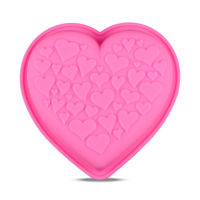 Cake Mould Big Heart Shaped Silicone Cake Mold Baking Tools for Cakes Heart Pizza Molds Bakeware for Big Muffin Moulds h899
