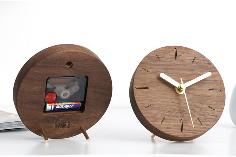 vintage wooden clock clock industrial la crosse mini antique decoration reloj sobremesa moderno decoracion alarm clock batman wood clock desk (11)