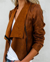 2018 New Fashion Slim Women Coat Casual Solid Winter Jacket Women Open Stitch High Quality Autumn