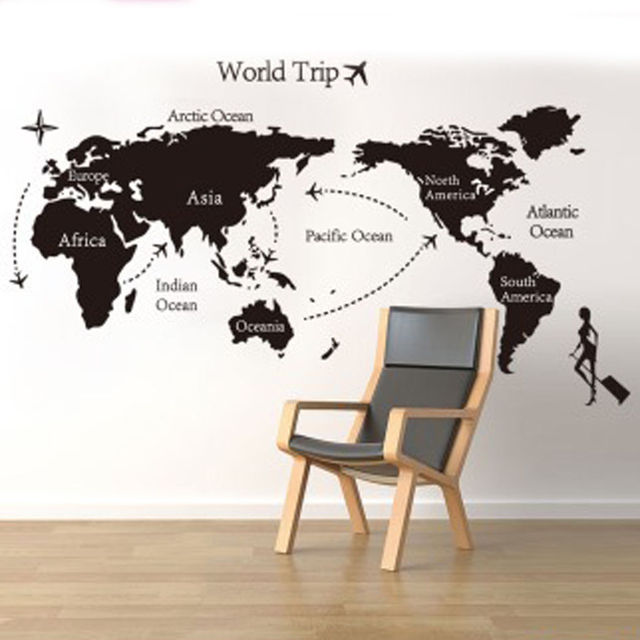 Miss world trip travel map wall stickers art vinyl decal home miss world trip travel map wall stickers art vinyl decal home decor wallpaper mural gumiabroncs Choice Image